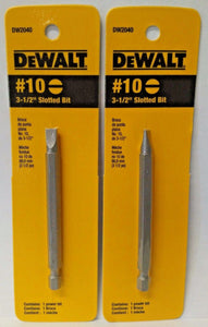 "Dewalt DW2040 #10 3-1/2"" Slotted Power Bit 2PKS"