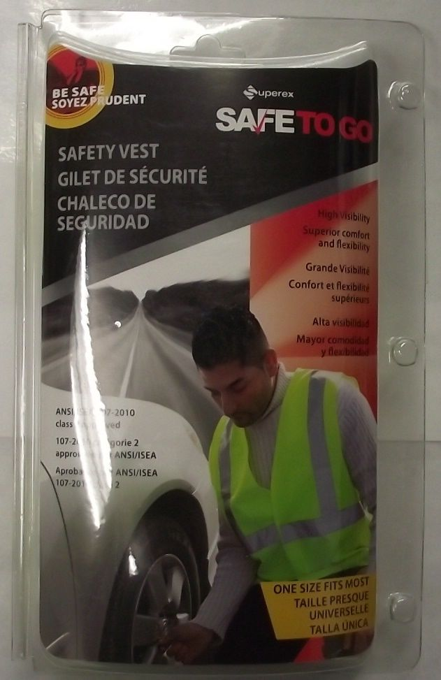 Superex SAFETOGO 21-382 High Visibility Neon Safety Vest