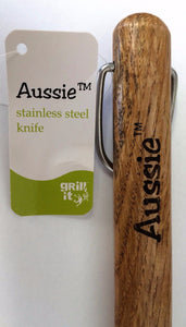 "Aussie 009-06-0162 18"" Stainless Steel Knife with Wood Handle"