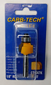 "Carb-Tech CT1067K 1/8"" Carbide Tipped Rounding Over Router Bit"