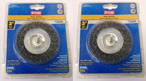"Ryobi Speed Load AR5004 3"" (Fine) Wire Wheel 2 Packs"