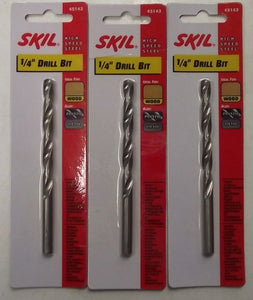 "Skil 45143 1/4"" High Speed Drill Bit 3pcs."