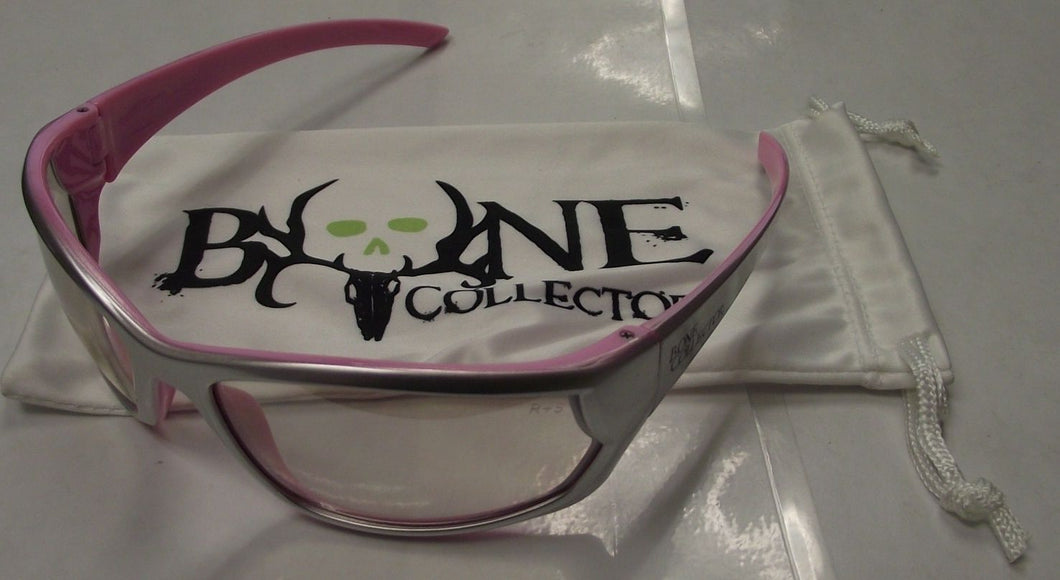 Radians Bone Collector BCC65-90ID Shooting Glasses In & Outdoor Lens Silver/Pink