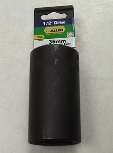 "ALLEN 35186 36mm 1/2"" Drive 6-pt  Deep Impact Socket USA"