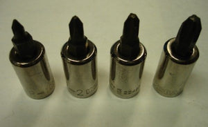 "Kobalt 22464SET 4 Piece 3/8"" Drive Phillips Bit Tips USA"