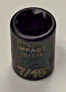 "Armstrong 19-414 3/8"" Drive 8 Point 7/16"" Impact Socket USA"
