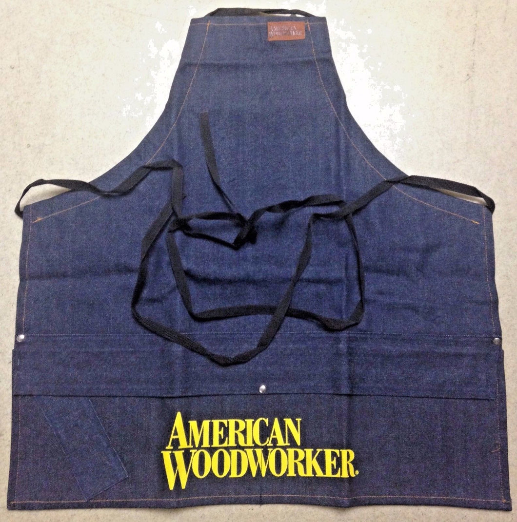 American Woodworker 120 Denim Carpenter Shop Apron Size 25