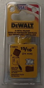 "DeWalt  D180015 15/16"" Bi-Metal Hole Saw USA"