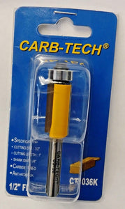"Carb-Tech CT1036K 1/2"" Flush Trim Router Bit Carbide Tipped"