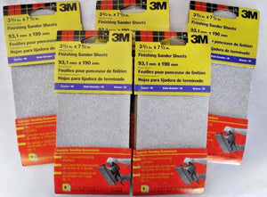 "3M 9114NA 3-2/3"" x 7-1/2"" Finishing Sander Sheets 5( 5 packs)"