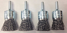 "Dewalt DW4901B 1"" x 1/4"" HP Metal/Stainless Shaft Carbon Crimp End Brush (4PCS)"