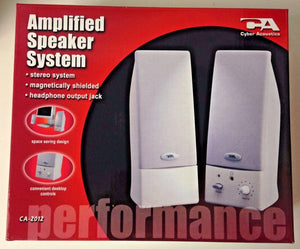Cyber Acoustics CA-2012 Amplified Speaker System (1 Pair of Speakers)