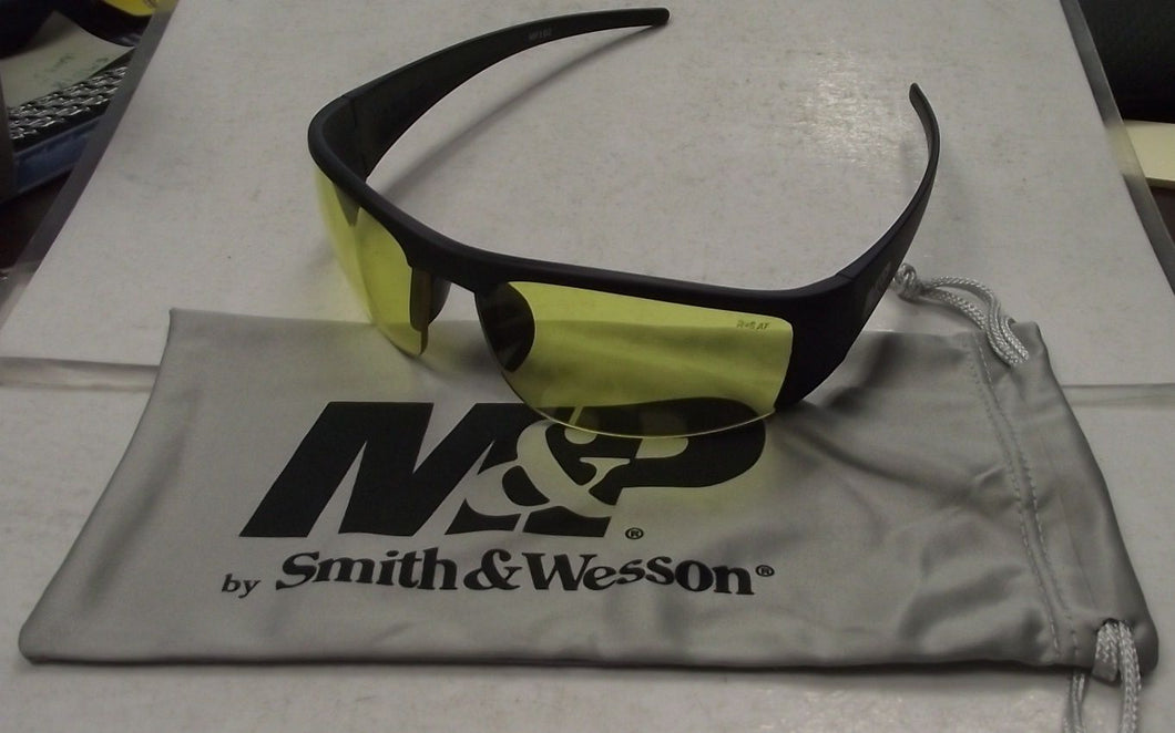 Smith & Wesson MP102-41-ID Half Frame Shootig Glasses With Amber AF Lens, Black
