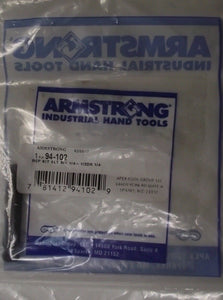 "Armstrong 94-102 1/4"" Replacement Kit Slotted End for 1/2"" Drive USA"