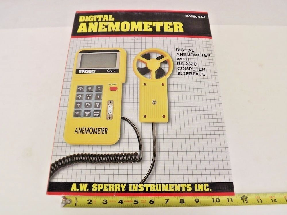 A.W. Sperry SA-7 Wind Air Flow Velocity Digital Anemometer