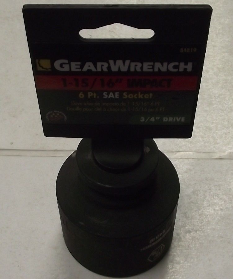 GearWrench 84819 1-15/16 - 3/4-Inch Drive 6 Point Standard Impact Socket