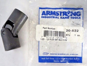"Armstrong 20-522 11/16"" 12pt Flex Socket Black 1/2"" Dr USA"