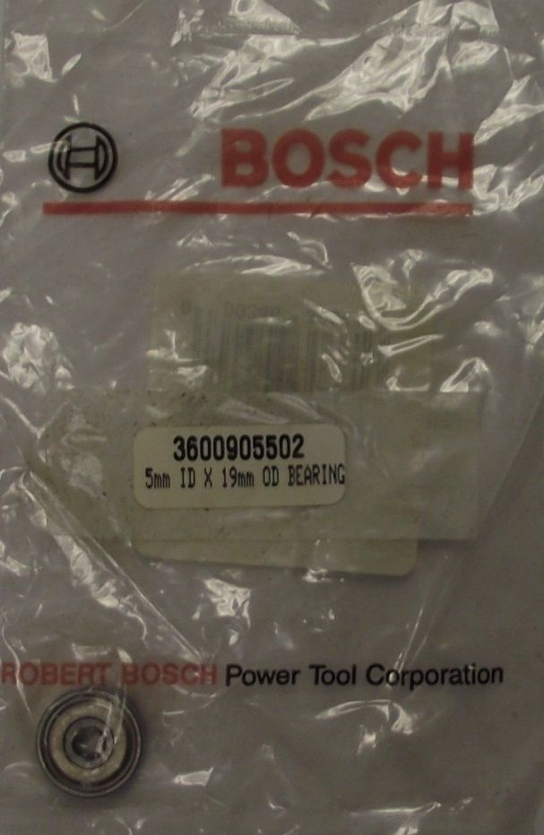 Bosch 3600905502 Ball Bearing 5MM I.D. x 19MM O.D. (for 85612M)