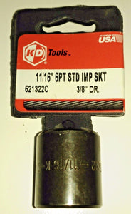 "KD Tools 521322 11/16"" Impact Socket 3/8"" Drive USA"