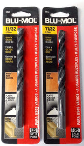 "Blu-Mol 6643 11/32"" High Speed Drill Bit 2 Packs"