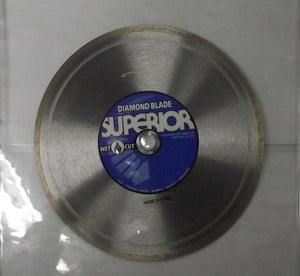 "Superior 82-200 Diamond Wet Saw Blade Brick Tile Marble 5/8"" Arbor"