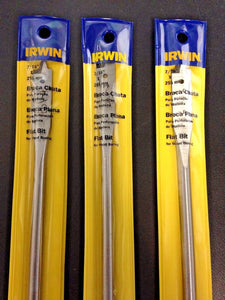 "Irwin IW704 7/16"" x 10"" Flat Bit For Wood Boring 3PKS"