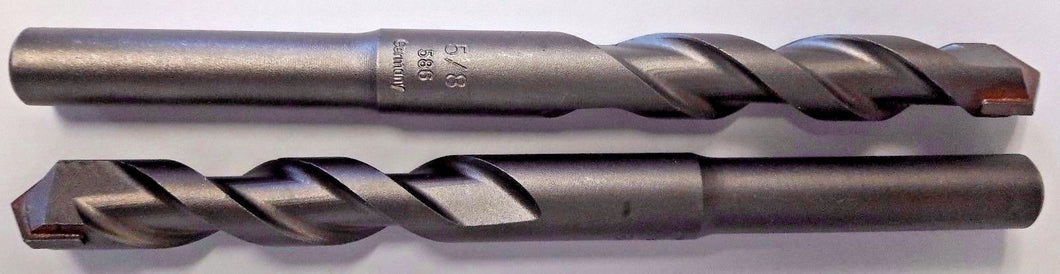 Bosch 220869 5/8 x 6-3/8 Carbide Tipped Rotary Percussion Drill Bit Germany 2pcs