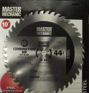 "Master Mechanic 117689 10"" x 44 Tooth Combo/Rip Circular Saw Blade"