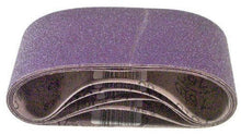 "3M 81433 4"" x 24"" Purple Regalite Resin Bond 120 Grit Cloth Sanding Belts 5 Pack"