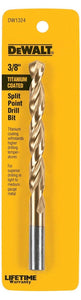 "Dewalt DW1324 3/8"" Titanium Coated  Split Point Drill Bit"
