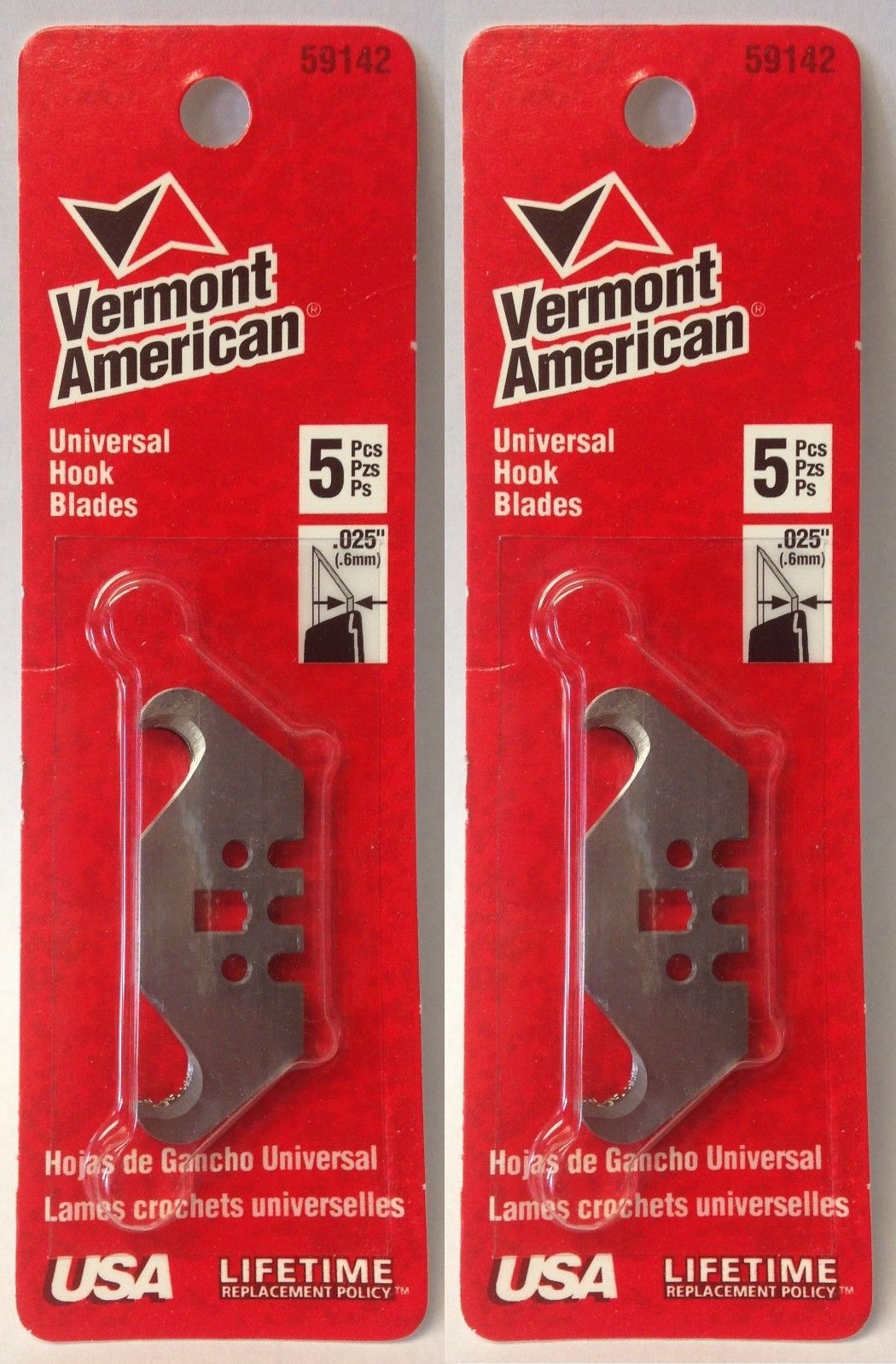 Vermont American 59142 Universal Hook Blades 2 Packs of 5 USA