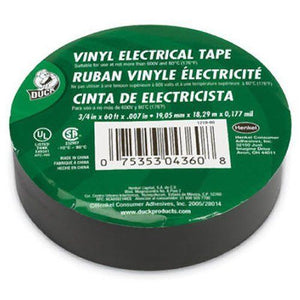 "Duck 3/4"" x 60 ft. x .007"" Utility Vinyl Electrical Tape (Single Roll)"