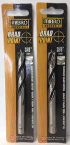 "Mibro 275531 3/8"" Brad Point Drill Bits 2 Packs"