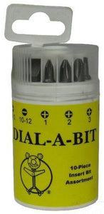 Dottie IB-10K 10 Piece Dial-A-Bit  Insert Bit Assortment