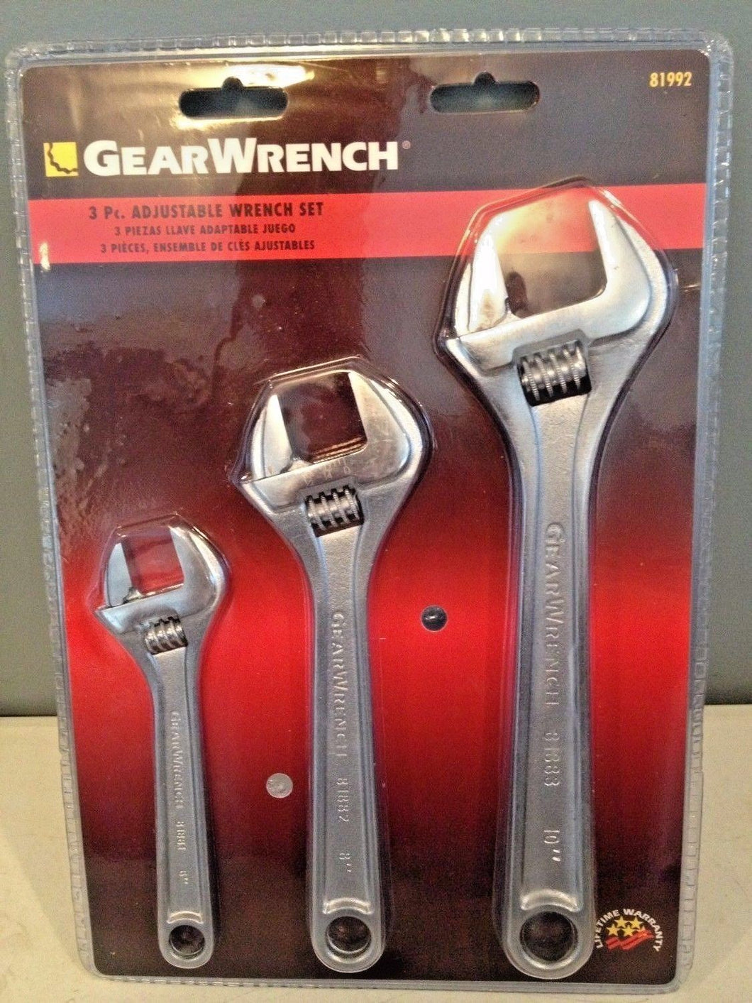Gearwrench 81992 3 Piece Adjustable Wrench Set 10