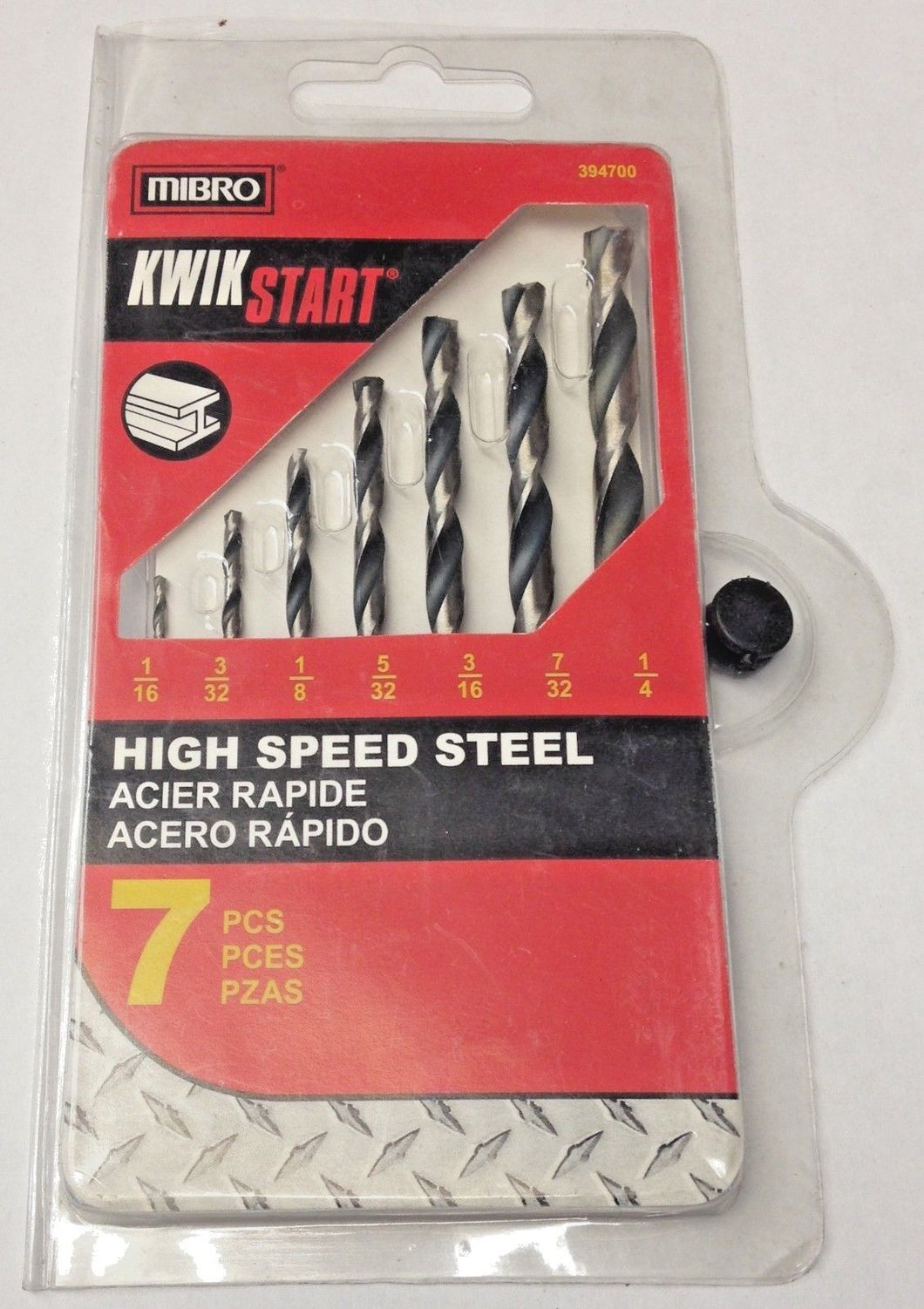 Mibro 394700 7 Piece Kwik Start High Speed Steel Drill Bit Set 1/16