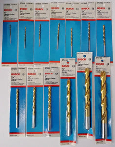 "Bosch DTJ020 - DTJ160 13 Piece Titanium Coated Drill Bit Set 1/16"" - 1/2"" USA"