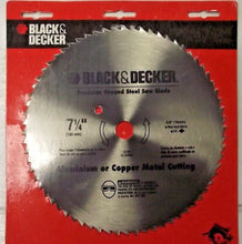 "Black & Decker 73-187 7-1/4""  Precision Ground Steel Saw Blade Aluminum & Copper"