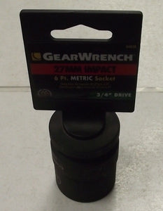 GearWrench 84838 27mm - 3/4-Inch Drive 6 Point Standard Impact Socket