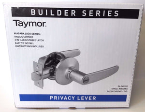 Taymor 36-3603SC Privacy Lever Door Handle Satin Chrome Builder Series