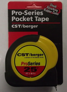 CST/Berger 78-R258 25' Weatherproof Pocket Tape 8th's of an Inch, Inches, & Feet