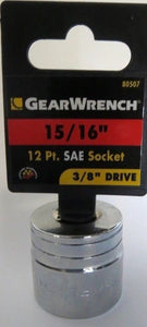 "GearWrench 80507 15/16"" 12 point SAE Socket 3/8"" Drive"