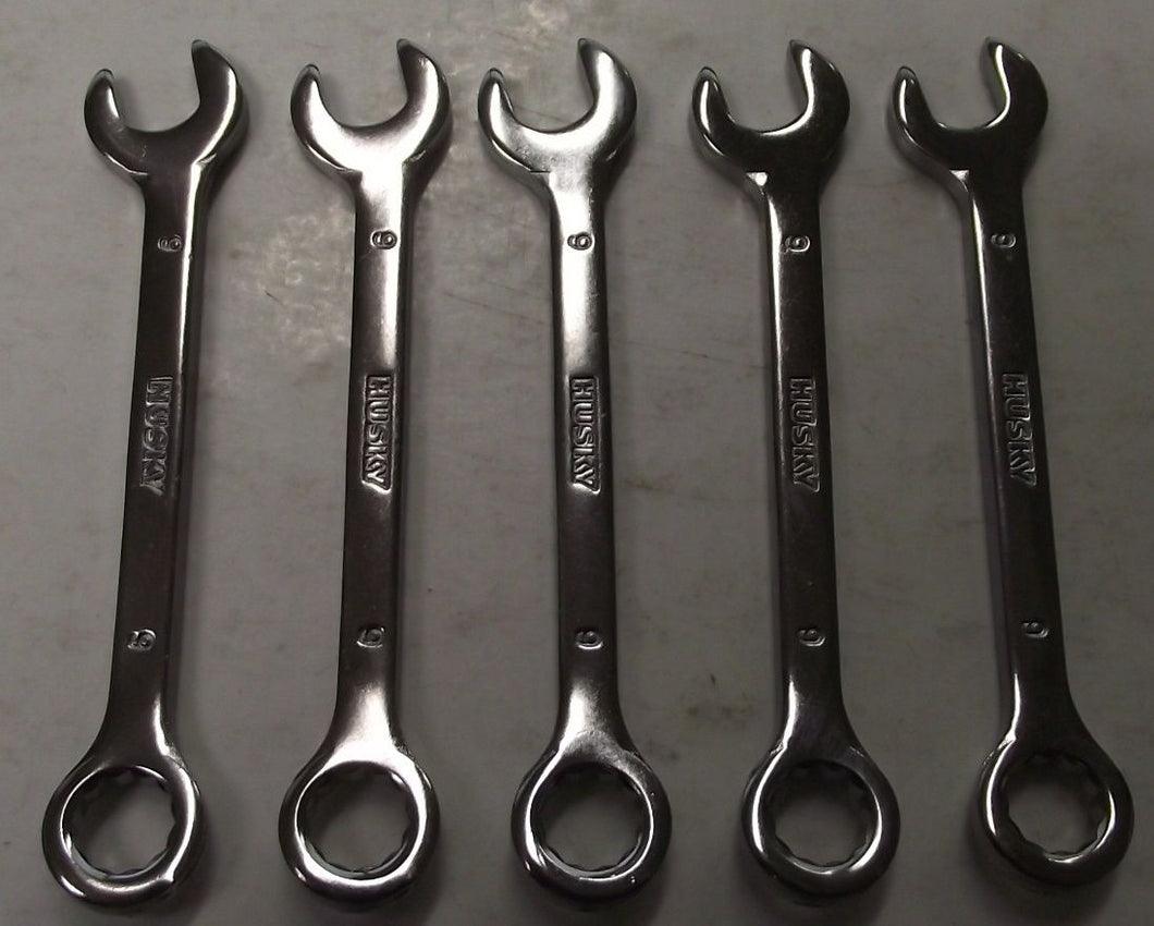 Husky HM673090 9mm 12pt Combination Wrench 5pcs.