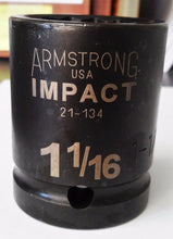 "Armstrong 21-134 3/4"" Drive 1-1/16"" Impact Socket 12 Point USA"