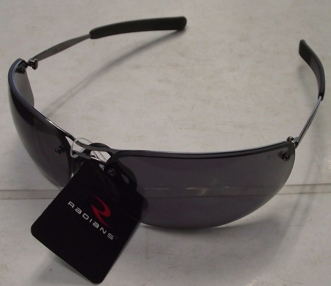 Radians T82-20RD Safety Glasses - Metal Frame - SmokeLens