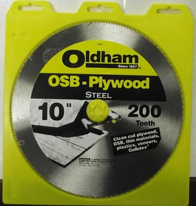 "Oldham 100P 10"" x 200 Tooth OSB Plywood Saw Blade"
