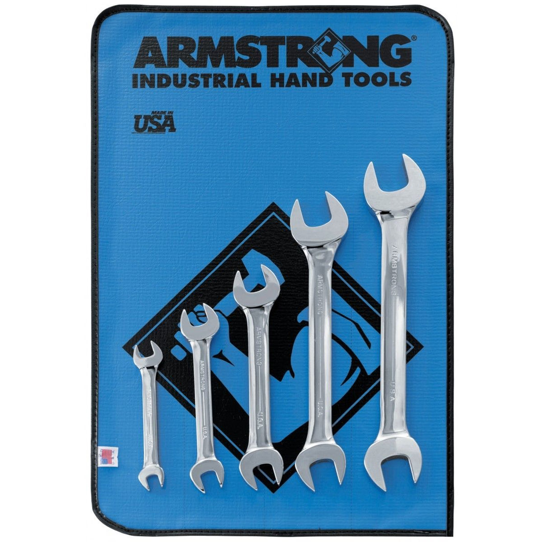 Armstrong 26-273 5 Piece Full Polish Open End Wrench Set USA