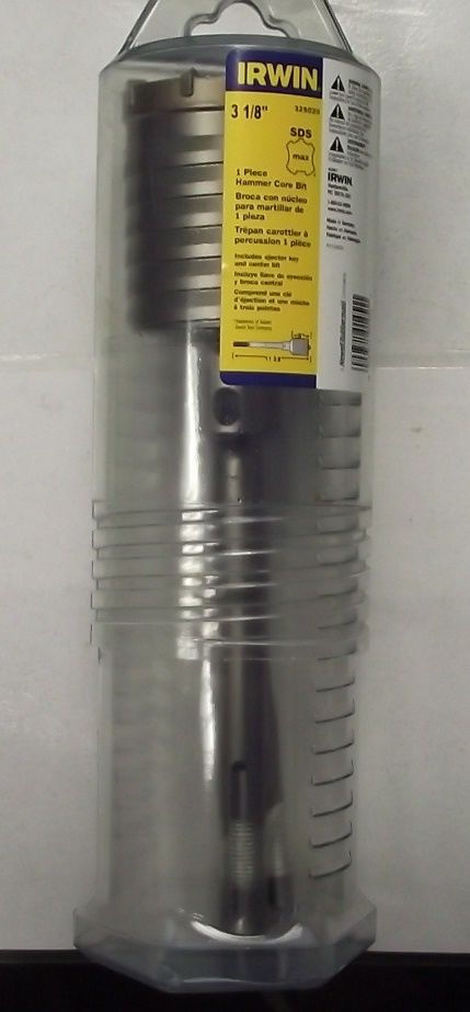 Irwin Tools 325020 3-1/8 x 11-3/8 SDS-Max 1 Pc Hammer Core Drill Bit Germany