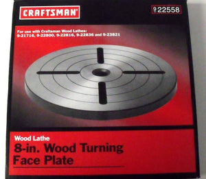 "Craftsman 22558 8"" Wood Turning Face Plate"