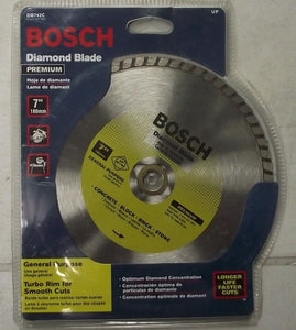 "Bosch 7"" DB742C  Premium Diamond Wet Saw Blade Brick Concrete 5/8"" Arbor"